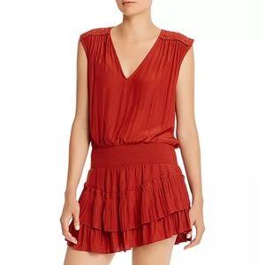 Ramy Brook Bernice Smocked-Waist Mini Dress